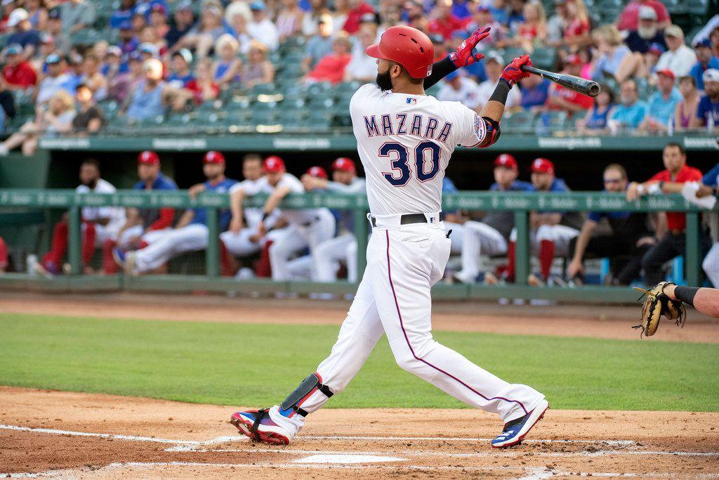 Nomar Mazara da jonrón 19, Lugo pega 3 hits